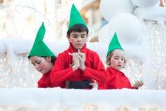 Cabalgata española de la Navidad Imágenes de archivo libres de regalías