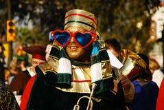 cabalgata los magos Reyes Fotografia Royalty Free