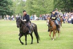 Caballería de la unión y del confederato imagen de archivo