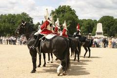 Caballería real en desfile Imagenes de archivo