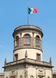 The Caballero Alto tower on top of Chapultepec Castle in Mexico City Stock Photos