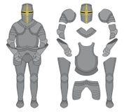 Caballero Armor color Imagen de archivo