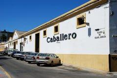 Caballero Bodega, El Puerto de Santa Maria. Royalty Free Stock Photography