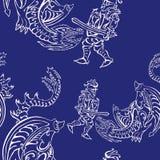 Caballero contra un dragón libre illustration
