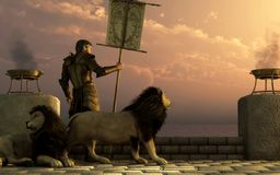 Caballero de leones libre illustration