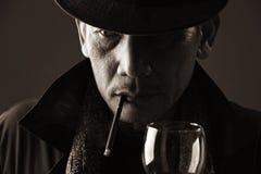 Caballero de los ancianos del fumador Imágenes de archivo libres de regalías