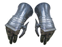 Caballero de los guantes de la armadura fotografía de archivo