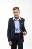 Caballero del adolescente del muchacho en un traje Fotografía de archivo