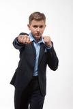Caballero del adolescente del muchacho en un traje Fotos de archivo libres de regalías