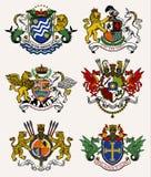 Caballero del escudo de armas Ilustración Imagen de archivo libre de regalías