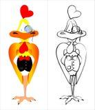 Caballero del gallo-uno Foto de archivo libre de regalías