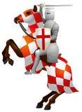 Caballero en el caballo, cruzado ilustración del vector