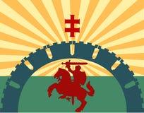 Caballero en un caballo Imagen de archivo libre de regalías