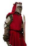 Caballero europeo medieval aislado Imagenes de archivo