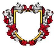 Caballero Heraldic Family de la cresta del escudo del escudo de armas stock de ilustración