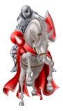 Caballero Jousting en el caballo blanco Fotografía de archivo libre de regalías