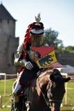 Caballero Jousting On Horseback foto de archivo libre de regalías