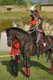 Caballero Jousting On Horseback imagen de archivo libre de regalías
