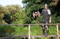 Caballero medieval Foto de archivo libre de regalías