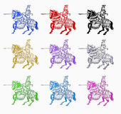 Caballero medieval Imágenes de archivo libres de regalías