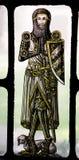 Caballero medieval Yale del vidrio manchado de Bonawit fotos de archivo libres de regalías