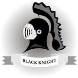 Caballero negro Foto de archivo libre de regalías