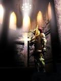 Caballero para la cruz stock de ilustración