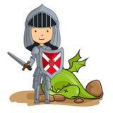 Caballero victorioso sobre el dragón libre illustration