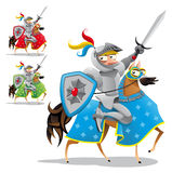 Caballero y caballo. ilustración del vector