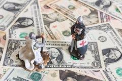 Caballero y dólares imagen de archivo libre de regalías