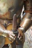 Caballero y espada Imagen de archivo libre de regalías