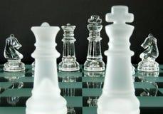 Caballeros del rey reina del ajedrez Imagen de archivo