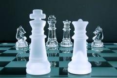 Caballeros del rey reina del ajedrez Foto de archivo libre de regalías