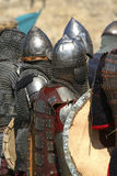 Caballeros en armadura brillante/histórico Fotos de archivo