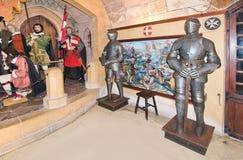 Caballeros en armadura llena imágenes de archivo libres de regalías