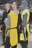 Caballeros en el festival medieval, Nuremberg 2013 Fotos de archivo libres de regalías