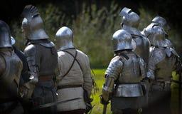 Caballeros medievales imagen de archivo