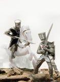 Caballeros medievales - cruzados Foto de archivo libre de regalías