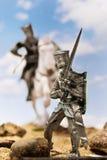 Caballeros medievales - cruzados con una espada Fotos de archivo