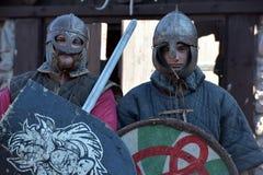 Caballeros Vikingos Fotografía de archivo