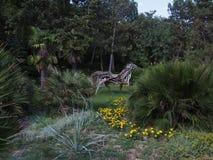 Caballo Árbol de madera de sculpture Fotografía de archivo libre de regalías