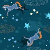 Caballo azul en cielo Imagen de archivo libre de regalías