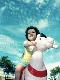 Caballo blanco Imagen de archivo libre de regalías