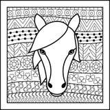 Caballo chino de la muestra del zodiaco Fotos de archivo