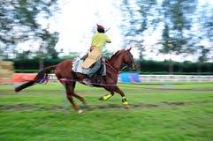 A caballo competencia del tiro al arco Fotos de archivo