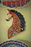 Caballo de cerámica turco Foto de archivo