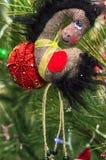 Caballo de la decoración del juguete de la Navidad Imagenes de archivo