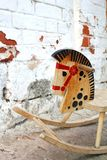Caballo de madera Fotografía de archivo