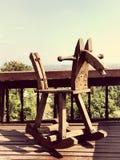 Caballo de madera Imágenes de archivo libres de regalías