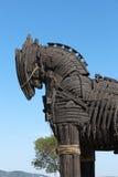 Caballo de madera de Troy en Canakkale, Turquía foto de archivo libre de regalías
